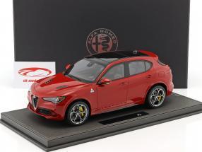 Alfa Romeo Stelvio Quadrifoglio Bouwjaar 2016 Alfa rood 1:18 BBR