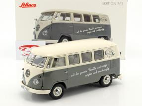 Volkswagen VW T1b Bus grey / white 1:18 Schuco