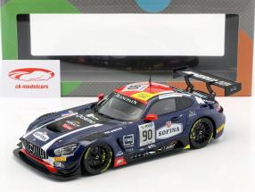 Mercedes-Benz AMG GT3 #90 3ª 24h Spa 2017 Mortara, Meadows, Marciello 1:18 Paragon Models