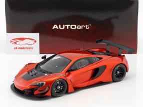 McLaren 650S GT3 Opførselsår 2017 vulkan appelsin / sort 1:18 AUTOart