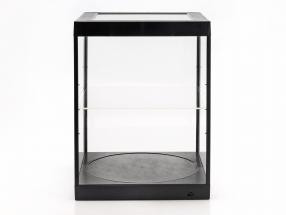 single display case and Rotary table for modelcars in scale 1:18 black Triple9
