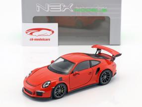 Porsche 911 (991) GT3 RS year 2016 orange 1:24 Welly
