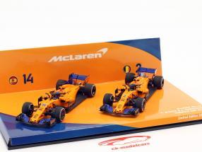 Alonso #14 & Vandoorne #2 2-Car Set McLaren MCL33 fórmula 1 2018 1:43 Minichamps