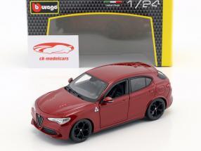 Alfa Romeo Stelvio Année de construction 2017 rouge 1:24 Bburago