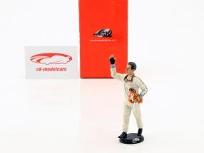 Jack Brabham vincitore Francia GP campione del mondo formula 1 1966 autista cifra 1:18 LeMansMiniatures