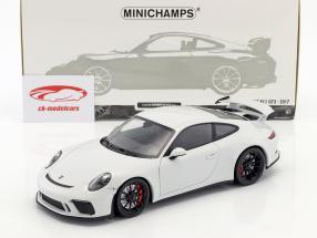 Porsche 911 (991 II) GT3 año de construcción 2017 Carrara blanco metálico 1:18 Minichamps