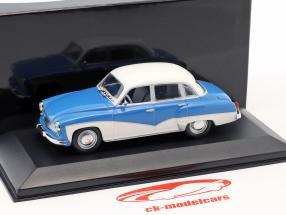 Wartburg 311 year 1955-1965 blue / white 1:43 Minichamps / false overpack