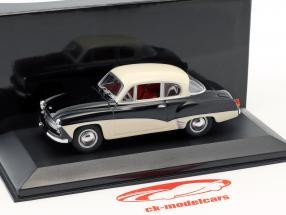 Wartburg 311 anno di costruzione 1955-1965 nero / bianco 1:43 Minichamps / falso sovrimballaggio