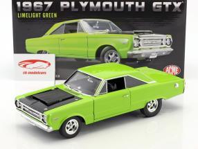 Plymouth Hemi GTX Opførselsår 1967 lyse grøn 1:18 GMP