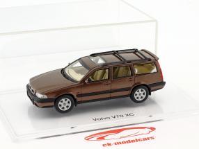 Volvo V70 XC année de construction 1997 sandstone brun métallique 1:43 DNA Collectibles