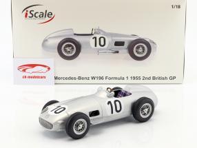 J.M. Fangio Mercedes-Benz W196 #10 2e Brits GP wereldkampioen formule 1 1955 1:18 iScale