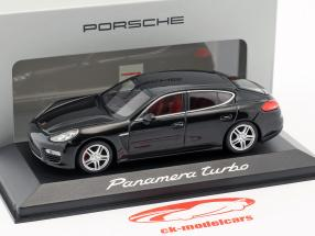 Porsche Panamera Turbo Gen. II ano 2014 preto 1:43 Minichamps