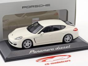 Porsche Panamera Diesel 2012 carrera blanc 1:43 Minichamps