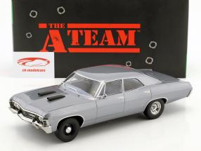 Chevrolet Impala Sport Sedan année de construction 1967 Série TV la A-Team (1983-87) gris bleu 1:18 Greenlight