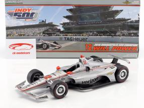 Will Power Chevrolet #12 winnaar Indy 500 kampioen Indycar Series 2018 Team Penske 1:18 Greenlight