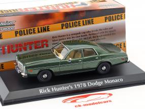 Rick Hunter's Dodge Monaco année de construction 1978 Série TV Hunter (1984-1991) vert métallique 1:43 Greenlight