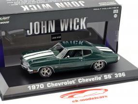 Chevrolet Chevelle SS 396 année de construction 1970 film John Wick 2 (2017) vert métallique 1:43 Greenlight