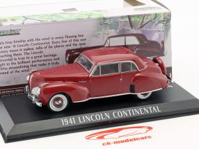 Lincoln Continental Opførselsår 1941 mørk rød 1:43 Greenlight