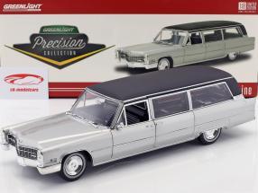 Cadillac S&S Limousine année de construction 1966 argent / noir 1:18 Greenlight