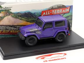Jeep Wrangler All Terrain vinter Edition 2017 lilla 1:43 Greenlight