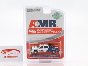 Chevrolet Silverado Pick-Up Baujahr 2018 AMR Indycar Safety Team mit Ausrüstung1:64 Greenlight