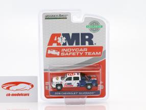 Chevrolet Silverado Pick-Up year 2018 AMR Indycar Safety Team with equipment 1:64 Greenlight