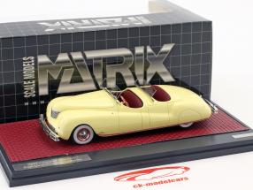 Chrysler Newport Dual Cowl Phaeton LeBaron ano de construção 1941 creme amarelo 1:43 Matrix