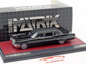 Cadillac Fleetwood Series 75 anno di costruzione 1970 nero 1:43 Matrix