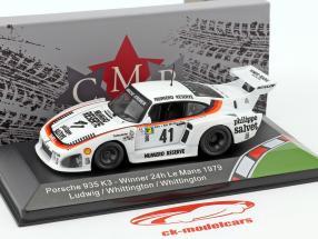 Porsche 935 K3 #41 winnaar 24h LeMans 1979 Ludwig, Whittington, Whittington 1:43 CMR