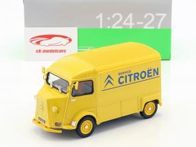 Citroen HY Citroen Service anno di costruzione 1962 giallo / blu 1:24 Welly