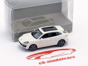 Porsche Cayenne Turbo Opførselsår 2017 hvid 1:87 Minichamps