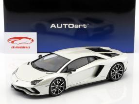 Lamborghini Aventador S Bouwjaar 2017 pearl white 1:18 AUTOart