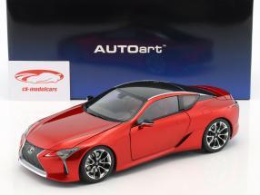 Lexus LC 500 ano de construção 2017 vermelho metálico 1:18 AUTOart