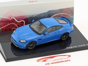 Jaguar XKR-S año de construcción 2011 french racing azul 1:43 Ixo