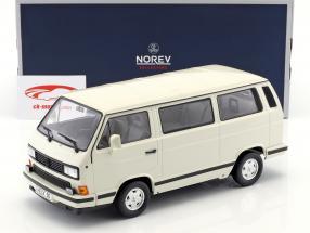 Volkswagen VW T3 Bus White Star Opførselsår 1990 hvid 1:18 Norev