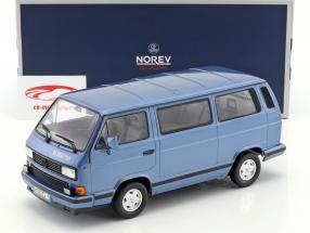 Volkswagen VW T3 Blue Star Opførselsår 1990 blå metallisk 1:18 Norev