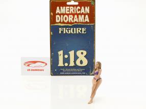 Kalender-Girl Juli im Bikini 1:18 American Diorama