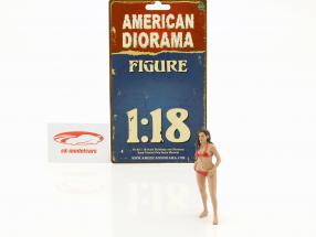 Calendar Girl October in bikini 1:18 American Diorama