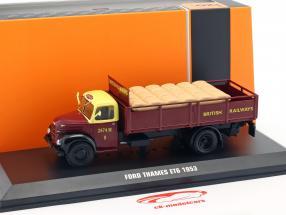 Ford Thames ET6 British Rail année de construction 1953 sombre rouge 1:43 Ixo