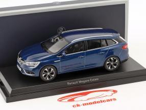 Renault Megane Estate Opførselsår 2016 kosmos blå metallisk 1:43 Norev