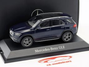 Mercedes-Benz GLE (V167) Bouwjaar 2018 cavansite blauw 1:43 Norev