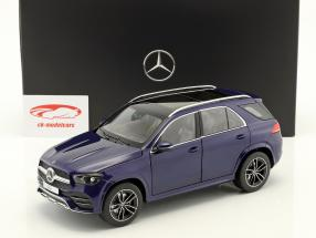 Mercedes-Benz GLE (V167) ano de construção 2018 brilhante azul metálico 1:18 Norev