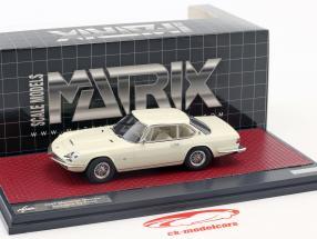 Maserati Mexico Speciale Frua année de construction 1967 blanc 1:43 Matrix