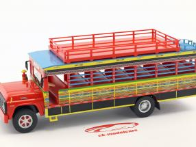 Ford F-100 Chiva bus Colombia year 1990 red / yellow / blue 1:43 Altaya