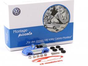 Volkswagen VW scarafaggio cabriolet set di montaggio blu / bianco 1:90 Schuco Piccolo