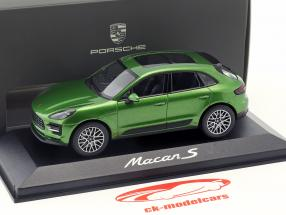 Porsche Macan S année de construction 2018 vert mamba métallique 1:43 Minichamps
