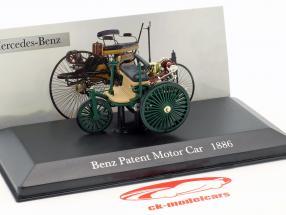 Mercedes-Benz Patent Veículo motorizado Ano de construção 1886 verde escuro 1:43 Altaya