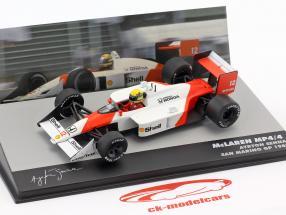Ayrton Senna McLaren MP4/4 #12 ganador San Marino GP fórmula 1 1988 1:43 Altaya