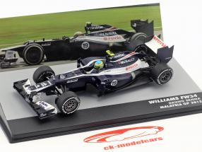 Bruno Senna Williams FW34 #19 Malásia GP fórmula 1 2012 1:43 Altaya