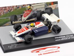 Ayrton Senna Toleman TG184 #19 3rd British GP formula 1 1984 1:43 Altaya